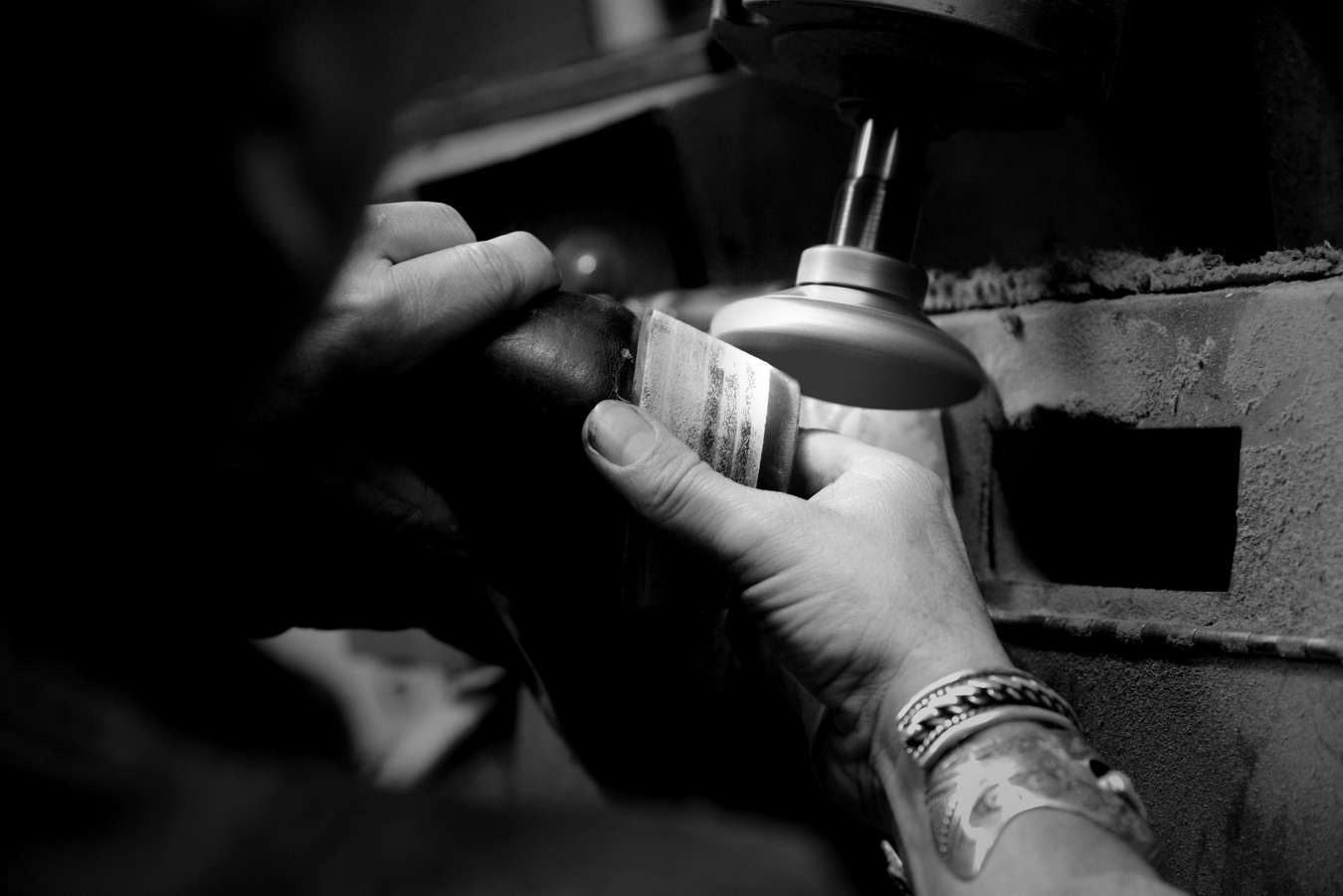 Polishing handmade boots